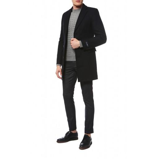 Пальто полуприталенное с английским вротником М3012