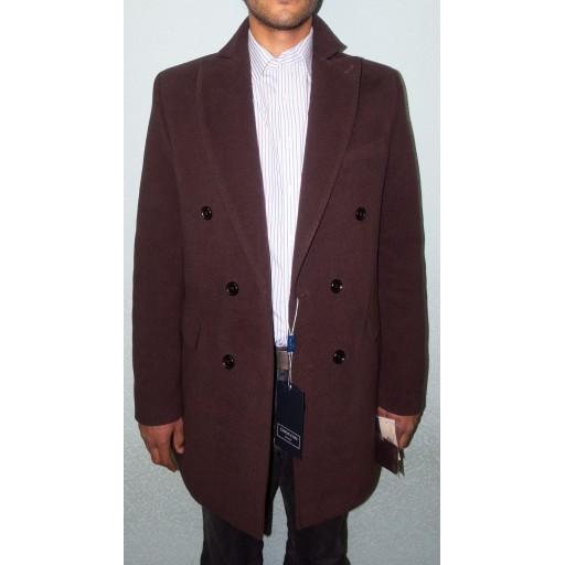 Пальто мужское двубортное Аполлон29 коричневое