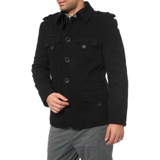 Пальто мужское в стиле милитари Темп01Ч