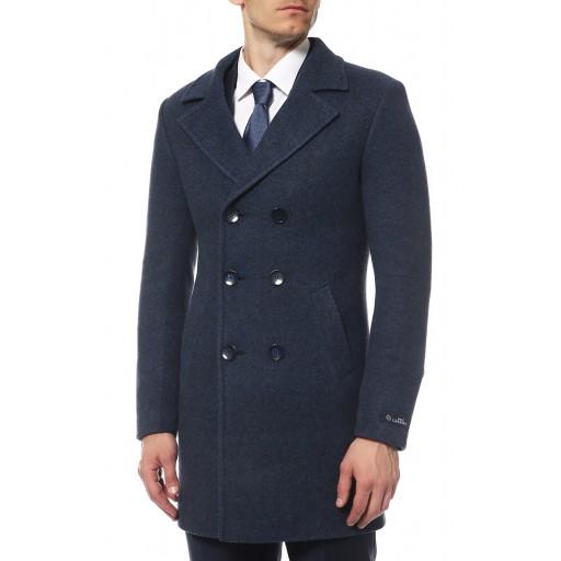 Пальто мужское двубортное арт. А3027 синее