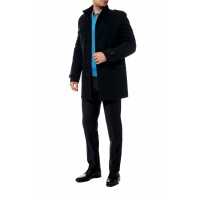 Пальто мужское одноборное, воротник стойка А15С