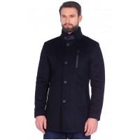 Пальто мужское приталенное , отстегивающаяся манишка с иск. меховым воротником, Арт. Бурса