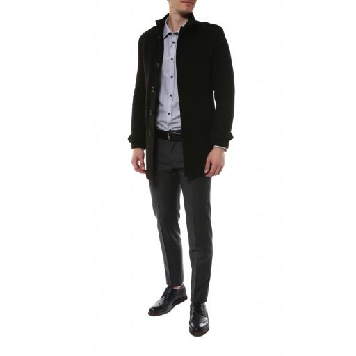 Пальто мужское с воротником стойка А15