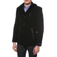 Пальто мужское , воротник стойка, с капюшоном К125