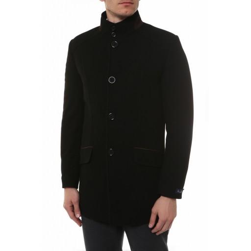 Пальто приталенное стильное, воротник стойка К3009