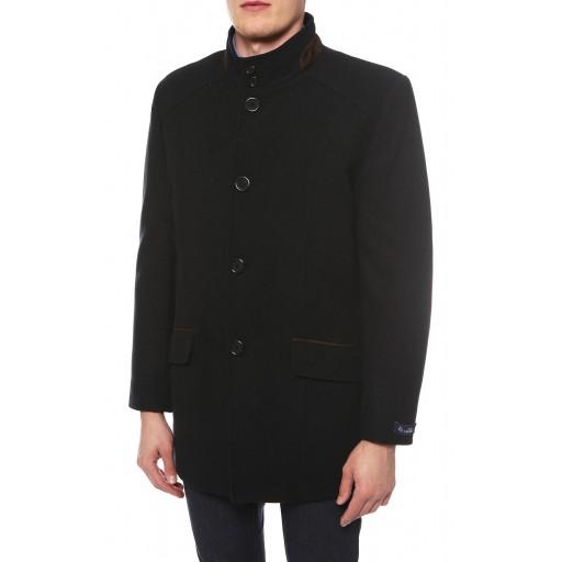 Пальто приталенное стильное, воротник стойка М3009