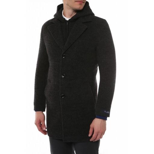 Пальто мужское зимнее с капюшоном НЕАПОЛЬ