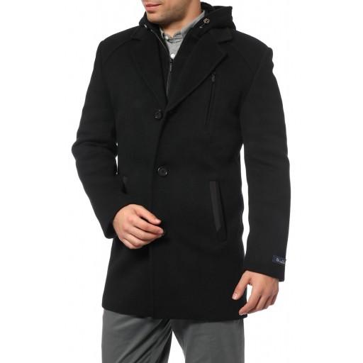 Пальто зимнего спортивного стиля  с капюшоном А121