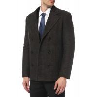 Пальто двубортное классическое, короткое   Дт01