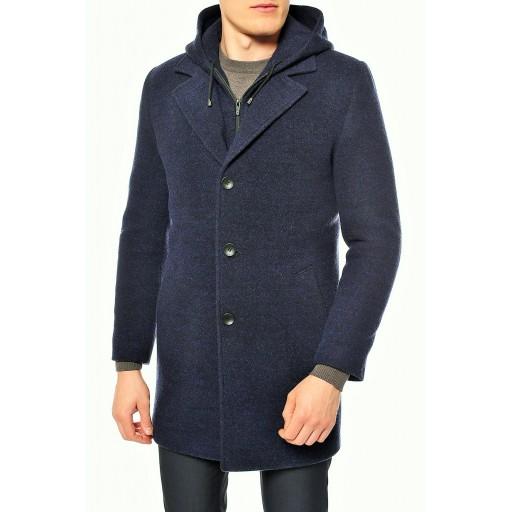 Пальто мужское с капюшоном Моренго