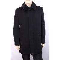 Пальто мужское с глухим воротником из искусственной нерпы А151