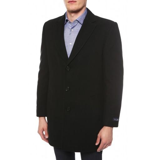 Пальто однобортное с V-образным вырезом с отложным воротником 3014ч